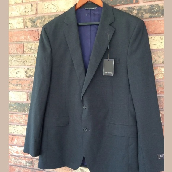 Jack Victor Other - Jack Victor 44L Dark Gray Wool Suit Jacket Blazer